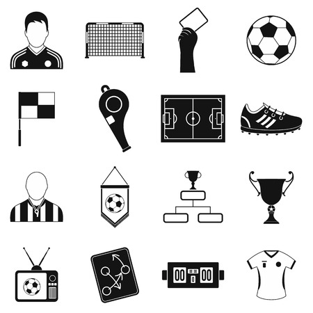 yellow card: Soccer black simple icons set for web and mobile devices