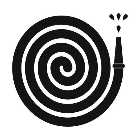 drench: Pulverizador para jardiner�a negro simple icono sobre un fondo blanco