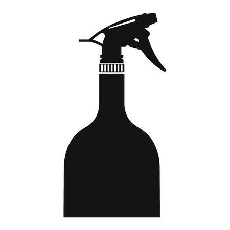 woman hygiene protection: Sprayer bottle black simple icon on a white background