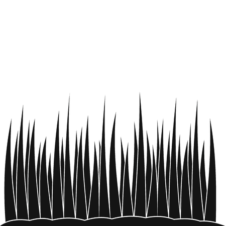 Growing grass black simple icon on a white background