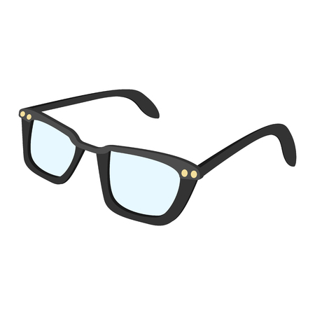 wayfarer: Male glasses cartoon icon. Hipster single symbol on a white background