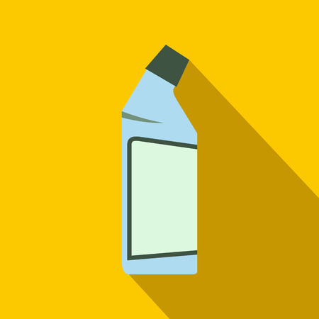 drain: Container of drain cleaner flat on a yellow background