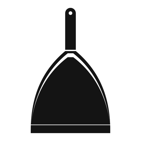 dustpan: Dustpan black simple icon on a white background