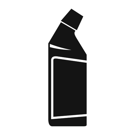 concentrate: Container of drain cleaner black simple icon