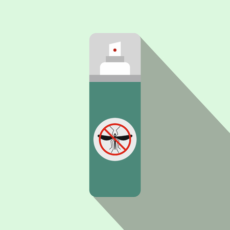 itch: Mosquito spray flat icon on a light green background