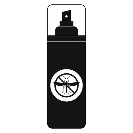 nuisance: Mosquito spray black simple icon isolated on white background Illustration