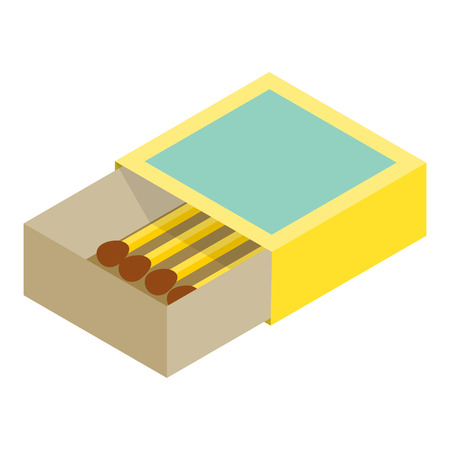 matchbox: Matchbox isometric 3d icon isolated on a white background