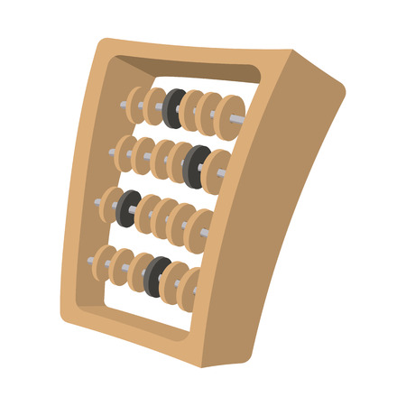 countable: Abacus cartoon icon isolated on a white background