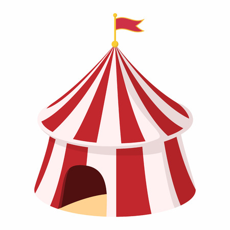 cupola: Circus tent cartoon on a white background