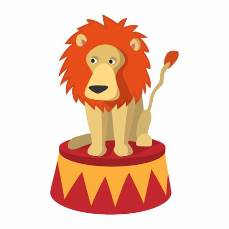 entertainer: Lion circus cartoon on a white background Illustration