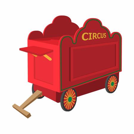 circus caravan: Circus wagon cartoon on a white background