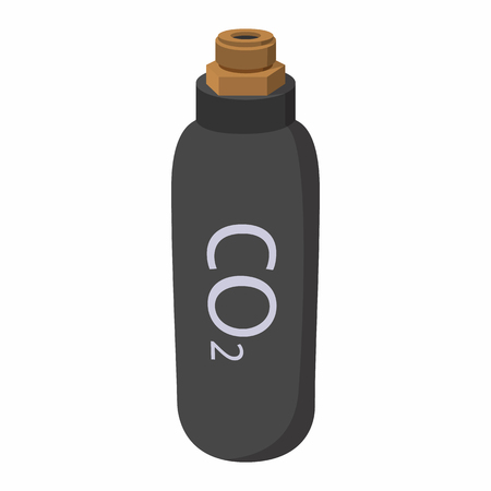 chemical weapon symbol: Gas hand grenade cartoon icon. Equipment for paintball. Symbol on a white background Illustration