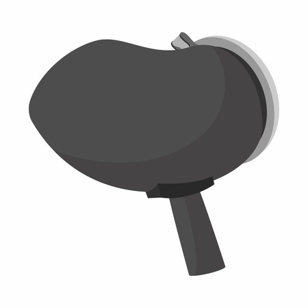 paintball: Ammunition in paintball marker icon. Cartoon icon of a part of paintball gun