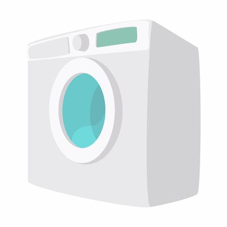 fully automatic: Washing machine cartoon icon isolated on a white background