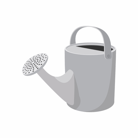 watering garden: Watering can cartoon icon isolated on a white background