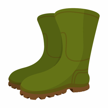 clogs: Boots cartoon icon isolated on a white background Illustration