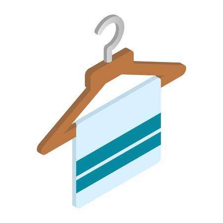 coathanger: Scarf on coat-hanger isometric 3d icon on a white background