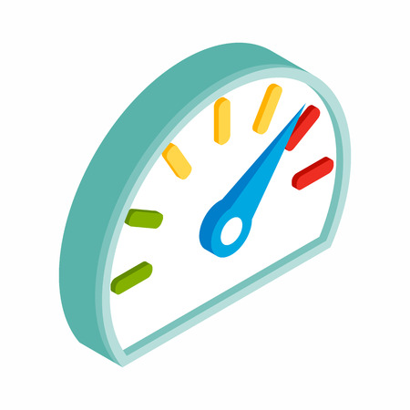 fuel gauge: Fuel gauge isometric 3d icon on a white background