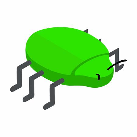 intruder: Spy bug isometric 3d icon on a white background Illustration