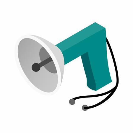 intruder: Spy listening device isometric 3d icon on a white background Illustration