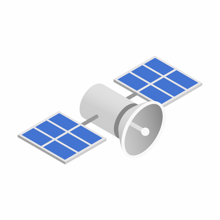 transponder: Satellites isometric 3d icon isolated on a white background