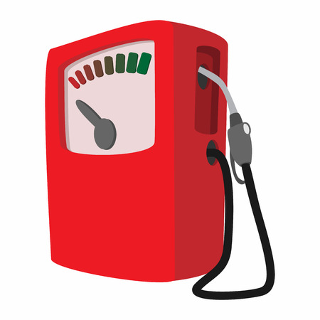 unleaded: Gas station cartoon icon. Single symbol on a white background Stock Photo