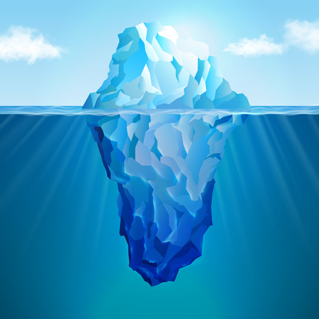 웹 및 모바일 장치에 대한 빙산 현실적인 개념