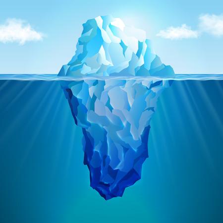 Web およびモバイル デバイス用の氷山現実的な概念  イラスト・ベクター素材