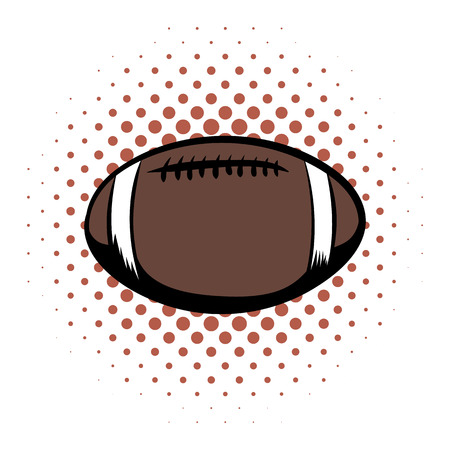 afc: American football comics icon. Oval ball for american football on a white background