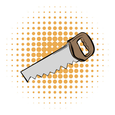 crosscut: Saw comics icon on a white background Illustration