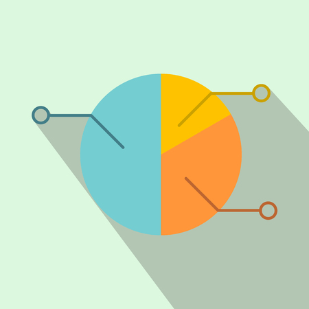 pie: Pie chart infographic flat icon for web and mobile devices Illustration