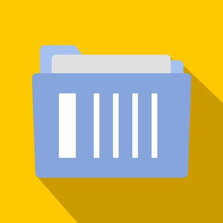 folder icons: File folder flat icon on orange background