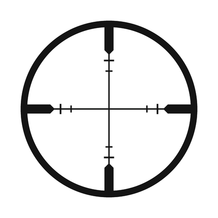 Crosshair black simple icon isolated on white background Stok Fotoğraf - 50741079