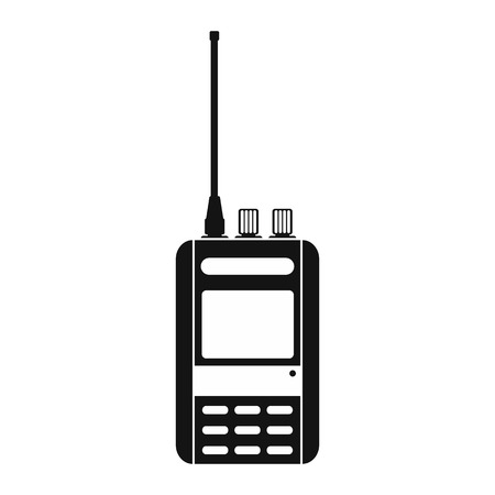 portability: Radio black simple icon isolated on white background