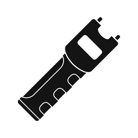 defensa personal: Arma de defensa personal Taser icono negro simple