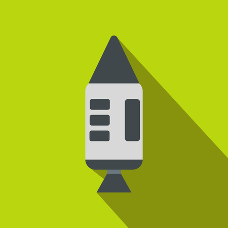 spacecraft: Spacecraft flat icon with shadow for web and mobile devices