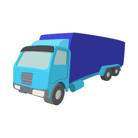 big: Icono de dibujos animados de camiones aislados en un fondo blanco