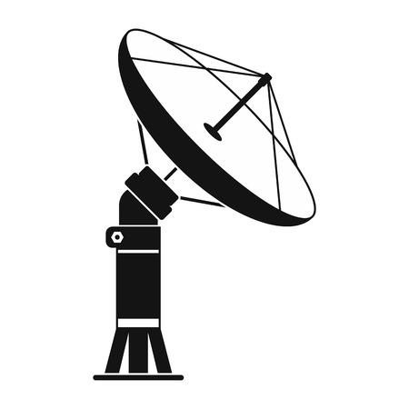 aereal: Parabolic aereal black simple icon isolated on white background