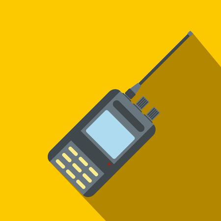 portability: Radio flat icon on a yellow background