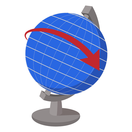navigation aid: Globe cartoon icon isolated on a white background