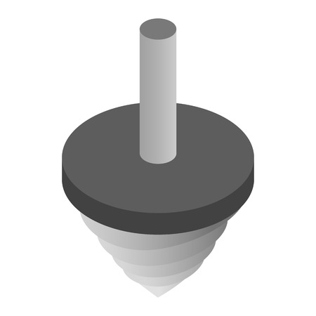deep drilling: Rotating drill isometric 3d icon isolated on a white background