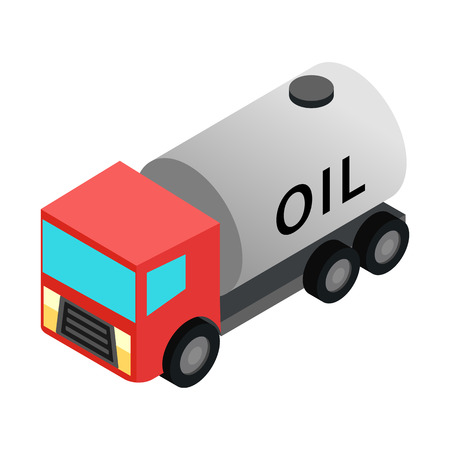 machine oil: Machine oil isometric 3d icon isolated on white background