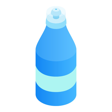hopper: Sport bottle 3d isometric icon isolated on a white background