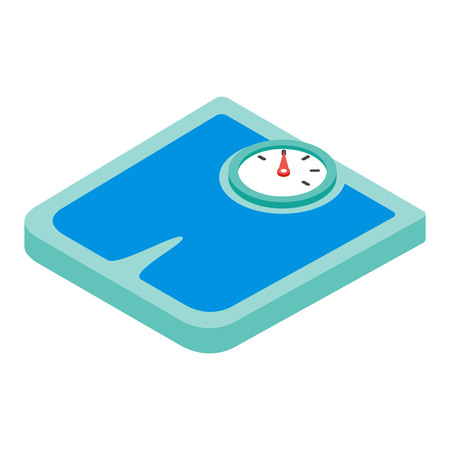 weight scales: Weighing machine isometric 3d Icon isolated on a white background Illustration