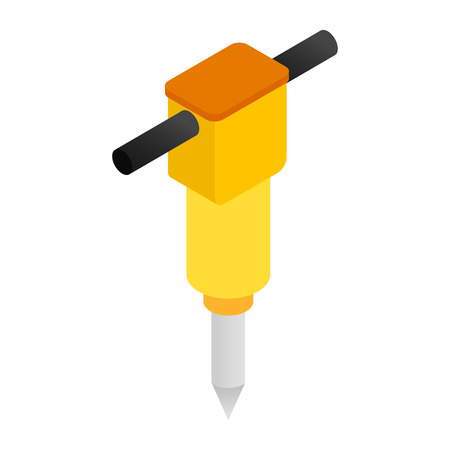 jackhammer: Jackhammer isometric 3d icon isolated on a white background