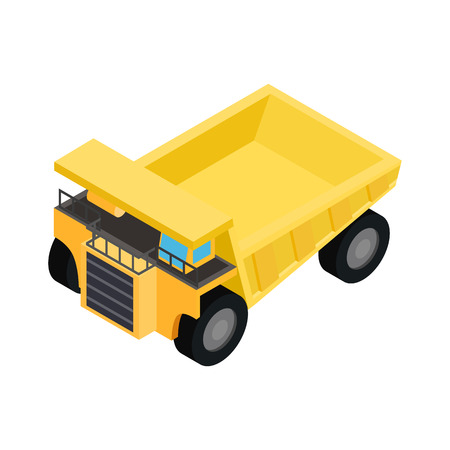 big truck: Big truck isometric 3d icon isolated on a white background Illustration