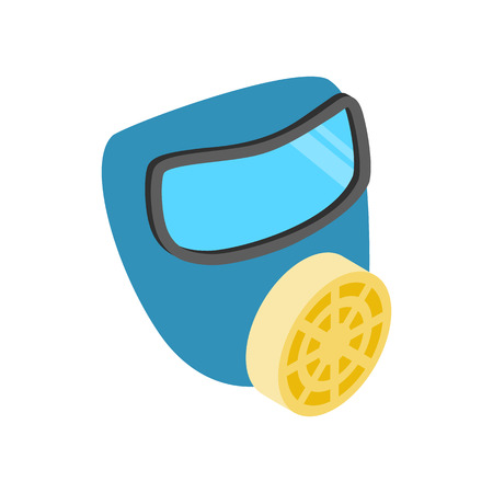 respirator: Respirator isometric 3d icon isolated on a white background