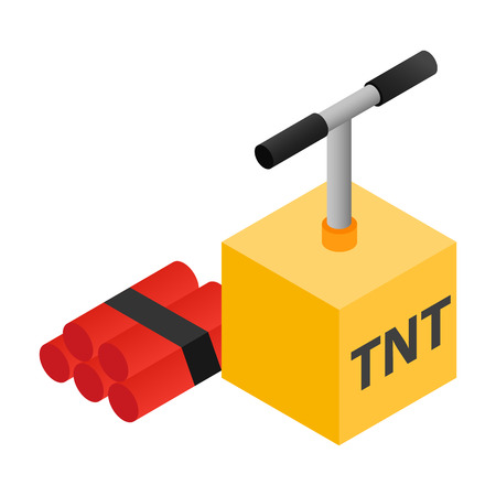 tnt: Dynamite isometric 3d icon isolated on a white background Illustration