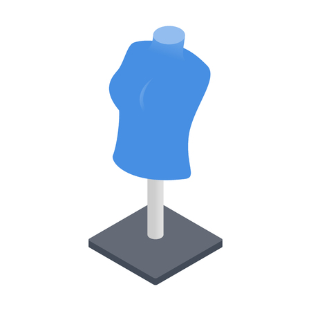 boutique display: Mannequin isometric 3d icon isolated on a white background