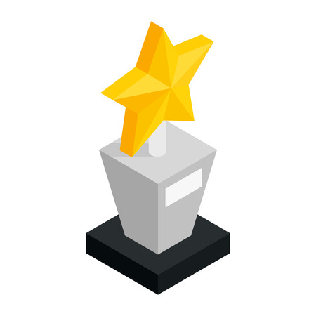 star award: Star award isometric 3d icon on a white background